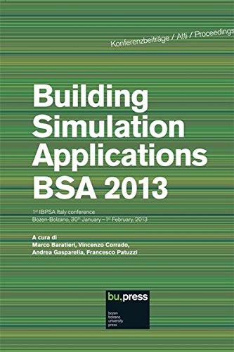 Building Simulation Applications BSA 2013 1st IBPSA Italy conference, Bozen-Bolzano, 30th January-1st February 2013