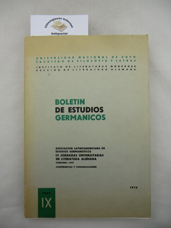 Boletin de Estudios Germanicos.