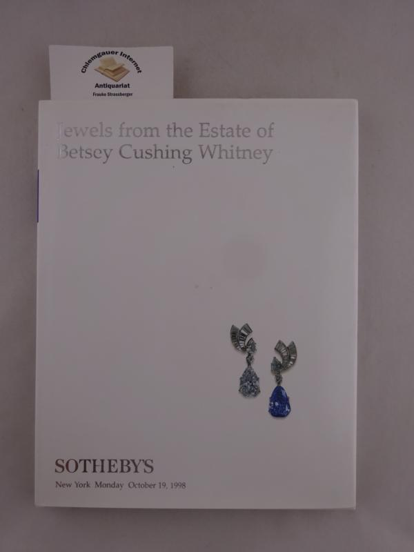 Sotheby Park Bernet: Jewels from the Estate of Betsey Cushing Whitney Sale 7202 - New York: Auction October 19, 1998.