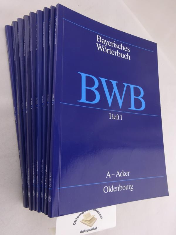 Kommission für Mundartforschung (Hrsg.): Bayerisches Wörterbuch. NEUN (9) Hefte. ( 1,2,3,4,5,6,7,8,9 ). ( so vollständig) Heft 9 =  Orts- und Quellenverzeichnis,