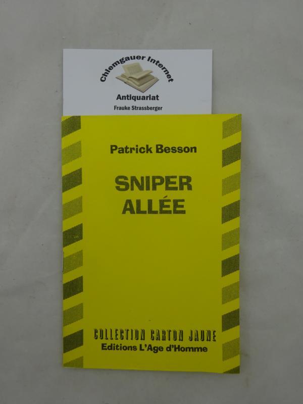 Sniper Allée. Collection carton jaune. ERSTAUSGABE. Première édition.