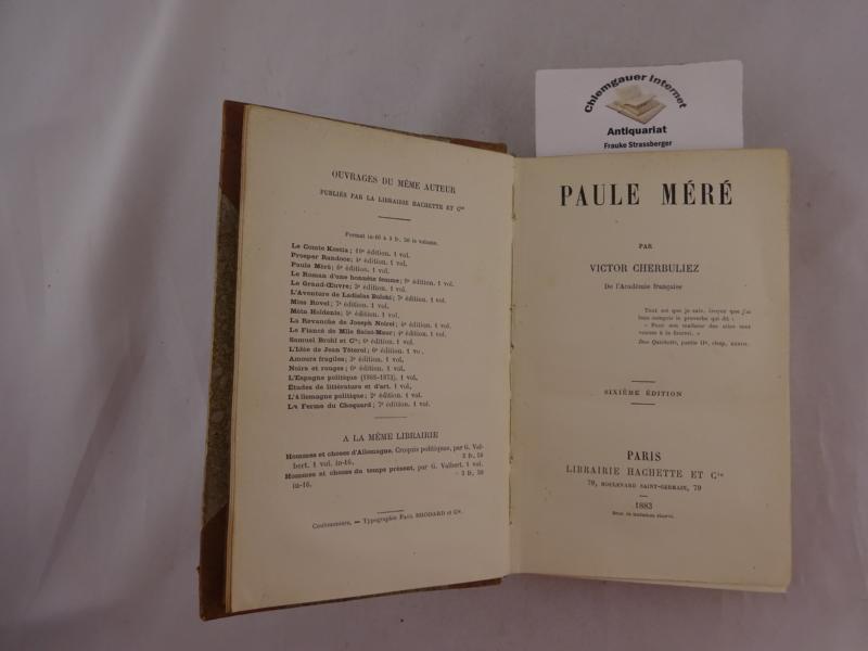 Paule Méré. Sixième édition.