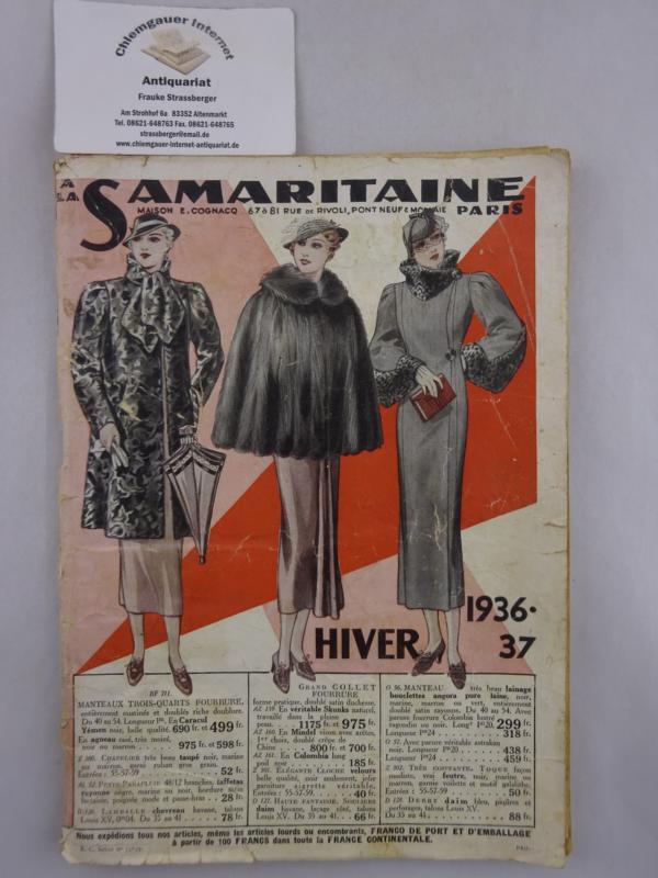 La SAMARITAINE. Maison Ernest Cognacq.     Catal Hiver  1936-37.