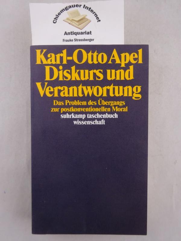 Diskurs und Verantwortung : das Problem des Übergangs zur postkonventionellen Moral. Suhrkamp-Taschenbuch Wissenschaft ; 893 2. Auflage