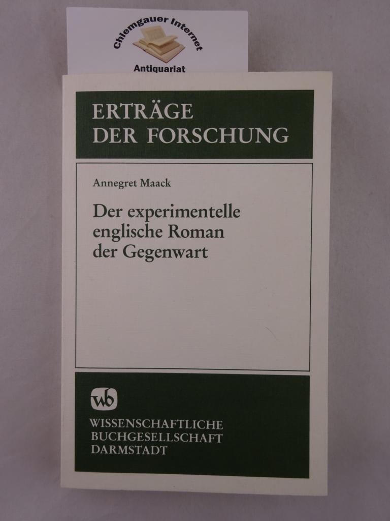 Der experimentelle englische Roman der Gegenwart. ERSTAUSGABE.