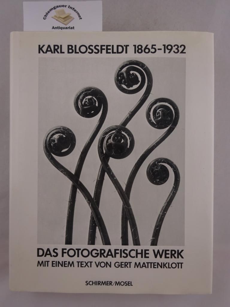 Das photographische Werk. Mit einem Text von Gerd Mattenklott. Botanische Bearbeitung von Harald Kilias. Erstausgabe.