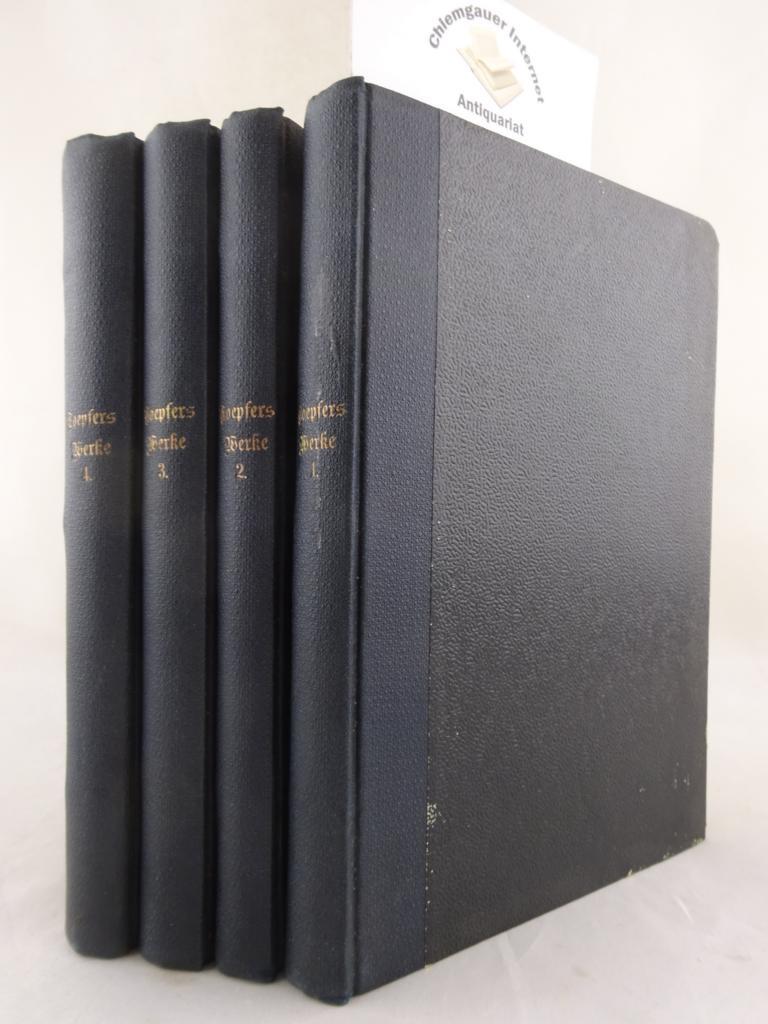 Toepfer, Carl: Gesammelte dramatische Werke . Herausgegeben von Hermann Uhde.   VIER (4) Bände. VIER (4) Bände. ERSTAUSGABE.