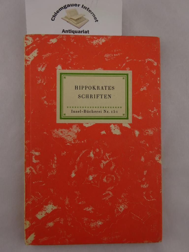 Hippokrates. Auswahl aus der Hippokratischen Schriftensammlung. 1. Auflage. ERSTAUSGABE.