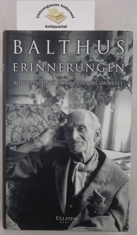 Erinnerungen. Aufgezeichnet von Alain Vircondelet. Aus dem Französischen von Claudia Steinitz. Deutsche ERSTAUSGABE.