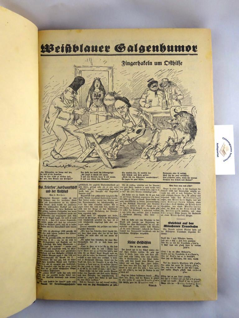 (Riedelsheimer, K. Hrsg.): Weißblauer Galgenhumor. Privater Sammelband mit ca. 150 Nummern (meist 1 Blatt) aus den Jahrgängen 1929-1932.