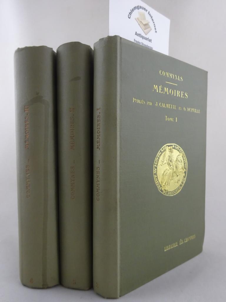 Mémoires. Édités par Joseph Calmette avec la collaboration de Chanoine G. Durville. DREI (3) Bände.