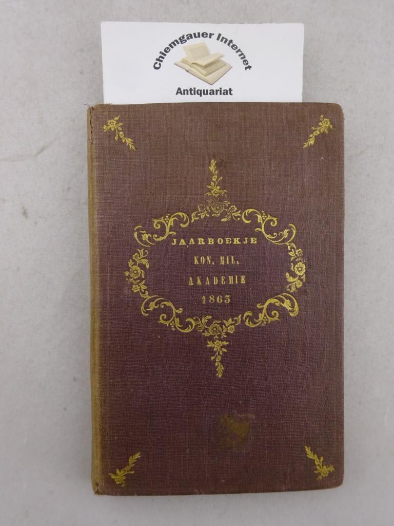 Jaarboekje der Koninklijke Militaire Akademie. Dertiende Jaargang 1863.