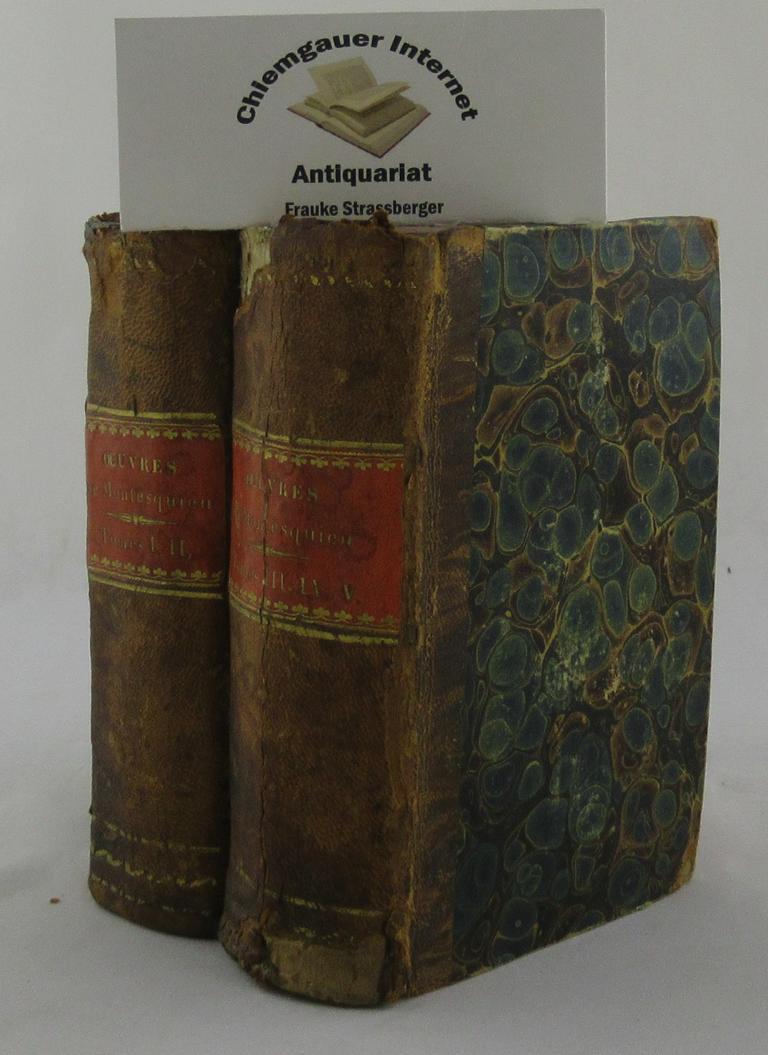 Montesquieu, Charles Louis de Secondat: De l'esprit des lois. Édition stéréotype. FÜNF Bände in 2 Bänden / Cinq volumes en deux.