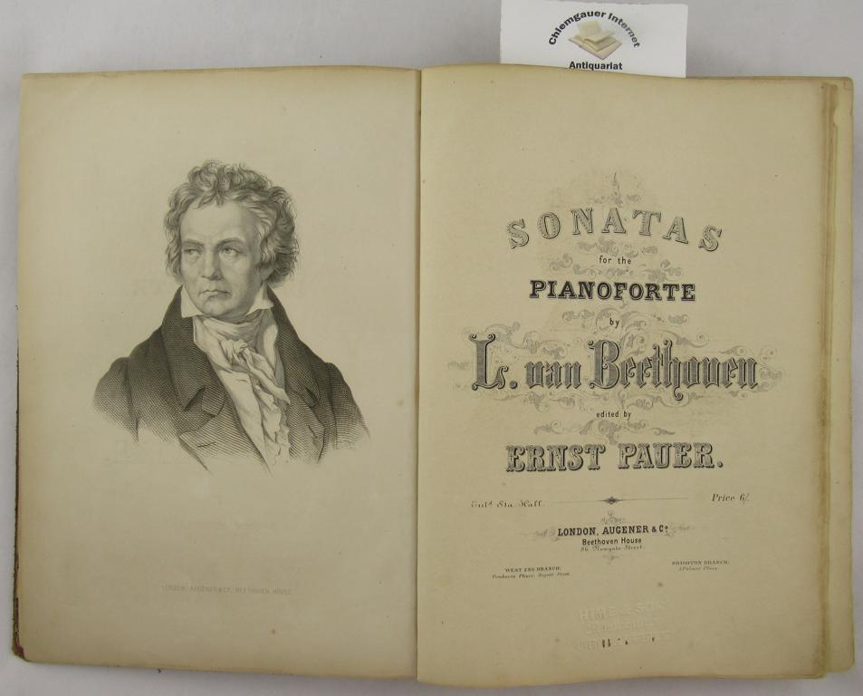 Sonatas for the Pianoforte   by L. van Beethoven edited by Ernst Pauer.