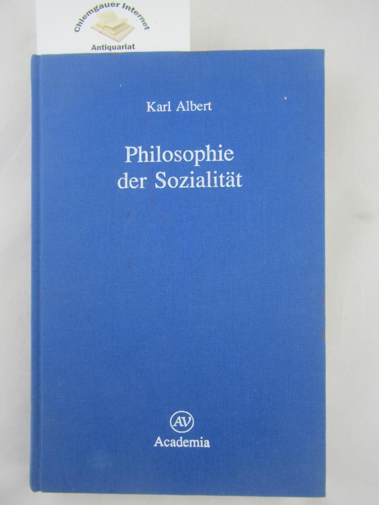 Philosophische Studien Band 4.: Philosophie der Sozialität 1. Auflage. ERSTAUSGABE.