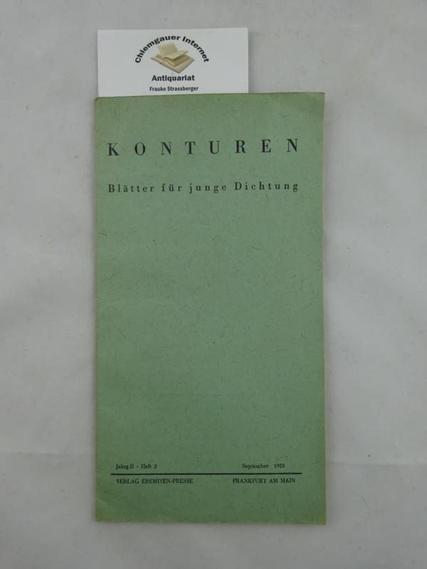 Konturen. Blätter für junge Dichtung. Jahrgang II, Heft 2 September 1953.