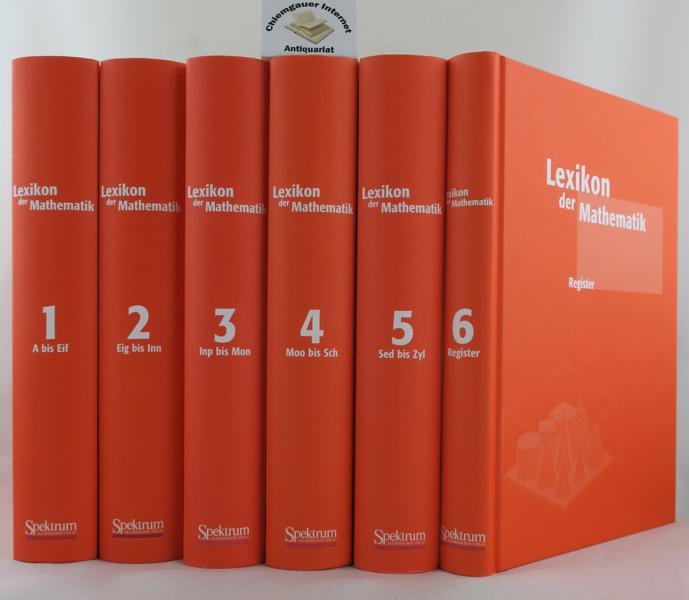 Lexikon der Mathematik in SECHS (6) Bänden. Von 2001 bis 2003 erschienen.