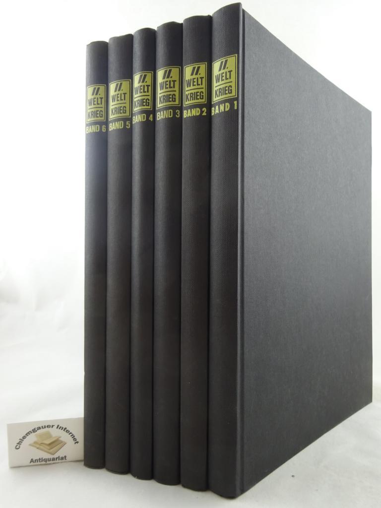 Der Zweite Weltkrieg. Eine historische Collage über den erregendsten Abschnitt deutscher Geschichte in Wort, Bild und Ton. DREI Teile in SECHS (6) Bänden.     Der Schritt über die Grenzen - Tief im Feindesland. OHNE die 3 dazugehörigen Schallplatten !