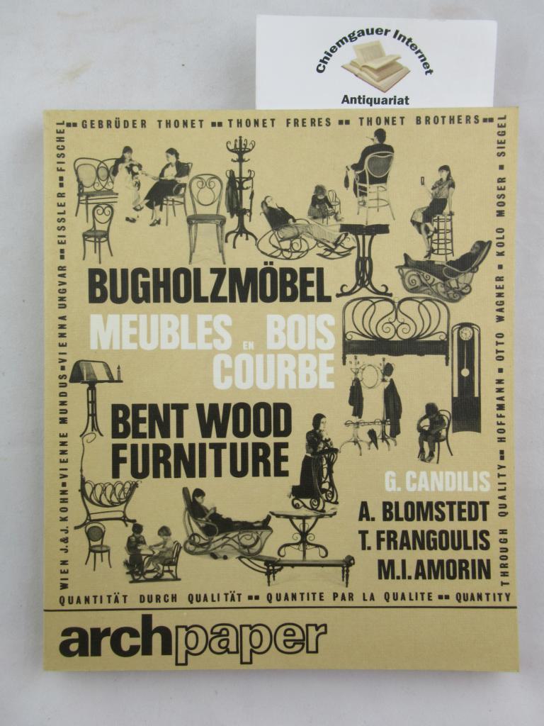 Bugholzmöbel = Meubles en bois courbé = Bent wood furniture. ERSTAUSGABE.