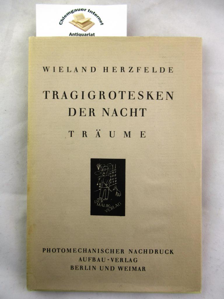 Tragigrotesken der Nacht. Träume. Einbandentwurf und Zeichnungen von George Gross  (!). Reprint der Ausgabe  Berlin Malik Verlag 1920.