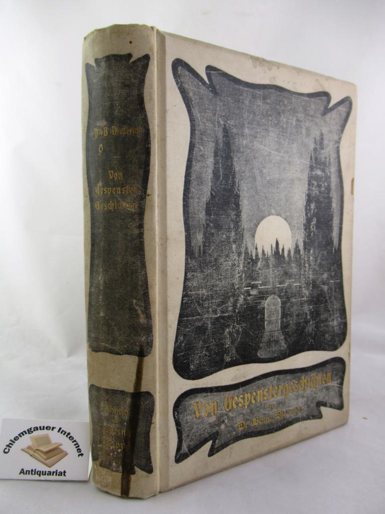 Von Gespenstergeschichten, ihrer Technik und ihrer Literatur. Mit Buchschmuck von Theo Hoffmann. ERSTAUSGABE.