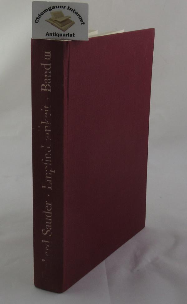 Sauder, Gerhard: Empfindsamkeit. Band III:  Quellen und Dokumente