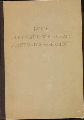 Klimesch, Karl Ritter von: Köpfe der Politik, Wirtschaft, Kunst und Wissenschaft, !! 2 Bände !! , Hrsg.: Karl Ritter von Klimesch,