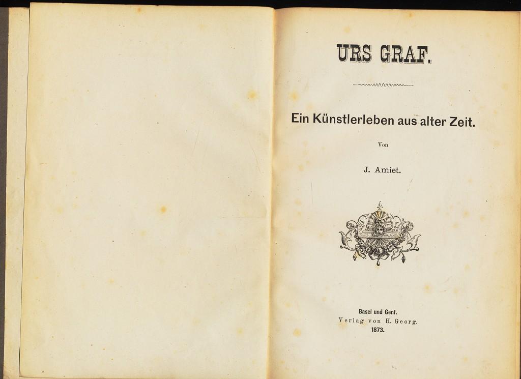 Urs Graf, Ein Künstlerleben aus alter Zeit.