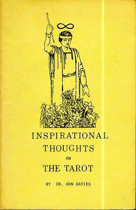 Davies, Ann: Inspirational Thoughts On The Tarot , By Dr. Ann Davies , First Edition ,