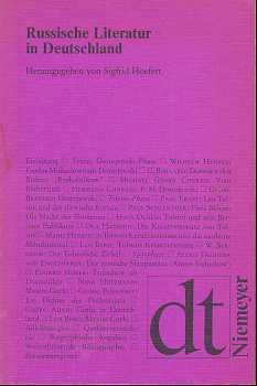 Russische Literatur in Deutschland : Texte z. Rezeption von d. achtziger Jahren bis z. Jahrhundertwende. mit e. Einf. u. e. weiterführenden Bibliographie hrsg. von, Deutsche Texte , 32