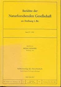 Berichte der Naturforschenden Gesellschaft zu Freiburg i. Br. Band 74, 1984,