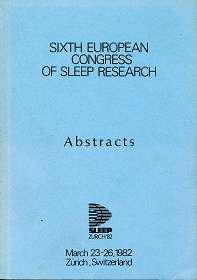 Sixth European - Congress Of Sleep Research - Abstracts , Sleep Zürich