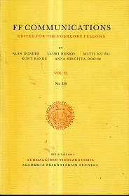 FF Communications Edited For The Folklore Fellows , Vol. C2 No. 235 , Robert Wildhaber : Der Altersvers Des Wechselbalges Und Die Übrigen Altersverse.