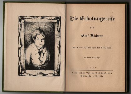 Richter, Erik: Die Erholungsreise : Mit 8 Steinzeichnungen des Verfassers. 2. Aufl.,