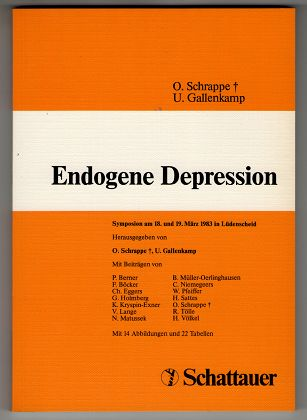 Endogene Depression : Symposion am 18. u. 19. März 1983 in Lüdenscheid.