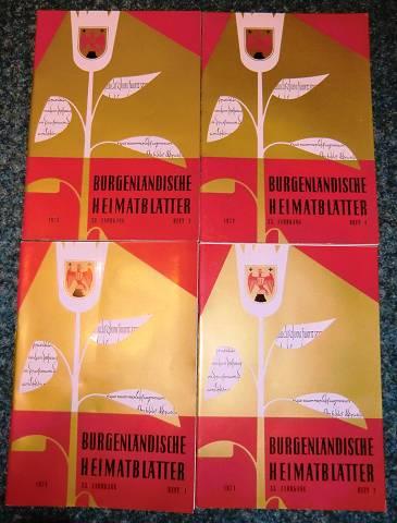 Burgenländische Heimatblätter. 33. Jahrgang 1971 , Heft 1-4 (4 Hefte, vollständig)