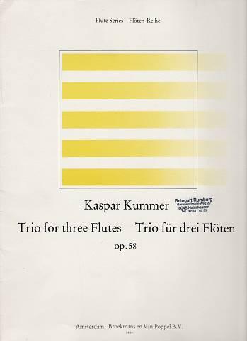Trio for three Flutes - Trio für drei Flöten op. 58. [Stimmen]