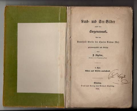 Land- und See-Bilder aus der Gegenwart / aus den Household-Words des Charles Dickens (Boz). II. Theil: Asien und Afrika umfassend.