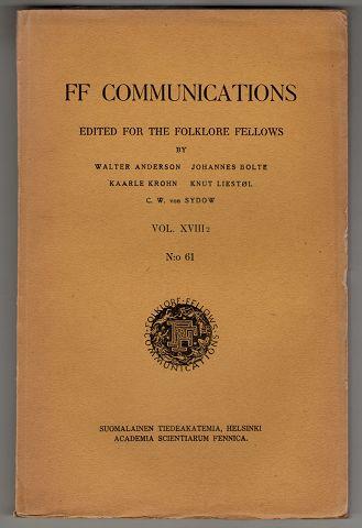 Die Religion der Tscheremissen. FF Communications VOL. XVIII.2 No. 61 , Edited For The Folklore Fellows.