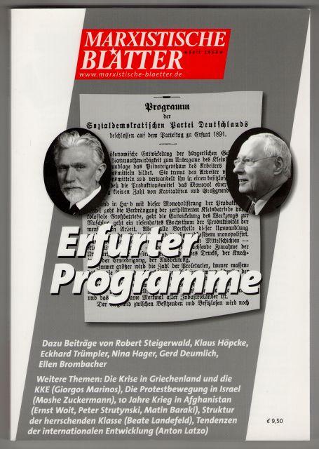 Marxistische Blätter. Heft 6-2011 - Erfurter Programme.