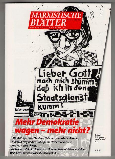 Marxistische Blätter. Heft 3-2012 - Mehr Demokratie wagen - mehr nicht?