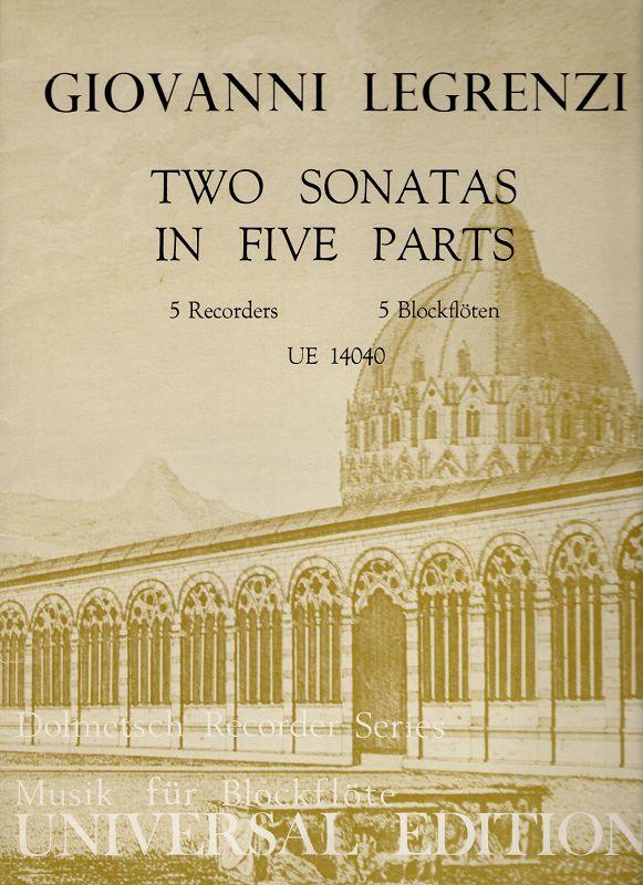 Two sonatas in five parts. 5 Recorder, 5 Blockflöten (UE 14040) Partitur, Stimmen.