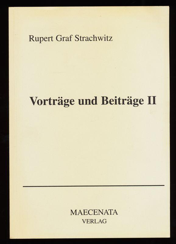 Vorträge und Beiträge II 1. Aufl.,