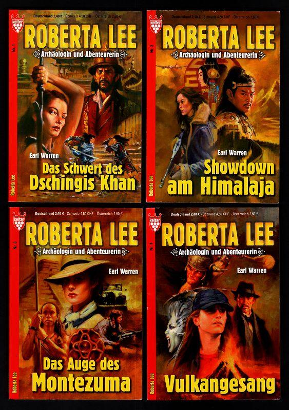 Roberta Lee Nr. 1 bis 4 (4Bände) 1. Das Schwert des Dschingis Kahn, 2. Showdown am Himalaja, 3. Das Auge des Montezuma, 4. Vukangesang. Roberta Lee: Archäologin und Abenteuerin.