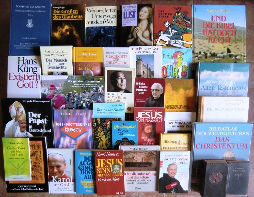 73 Bücher Religion Kirche Christentum Gott Jesus Christus Buchpaket Religionen