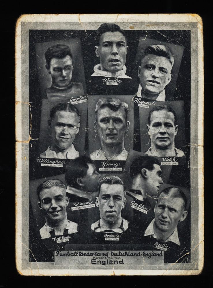 AnsichtsK Fussballländer-Kampf Deutschland-England Berlin 14. Mai 1938 Postkarte