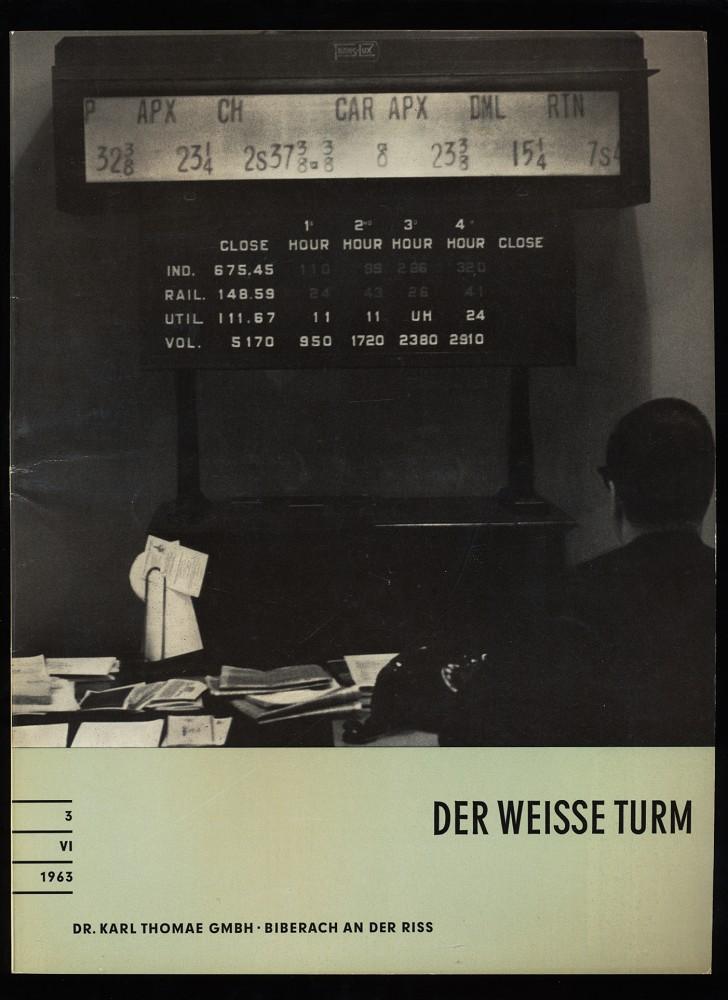 Der weisse Turm Nr. 3 / VI / 1963 : Eine Zeitschrift für den Arzt.