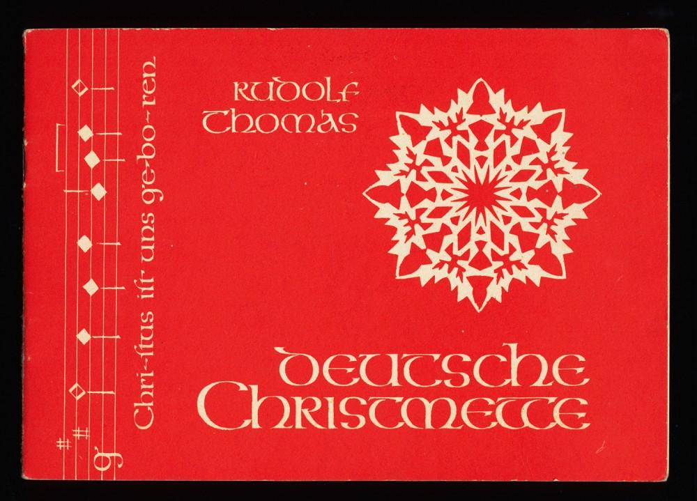 Deutsche Christmette : Christus ist uns geboren. Kurze Matutin vor dem Christamt. Chor-Part. m. Soli,