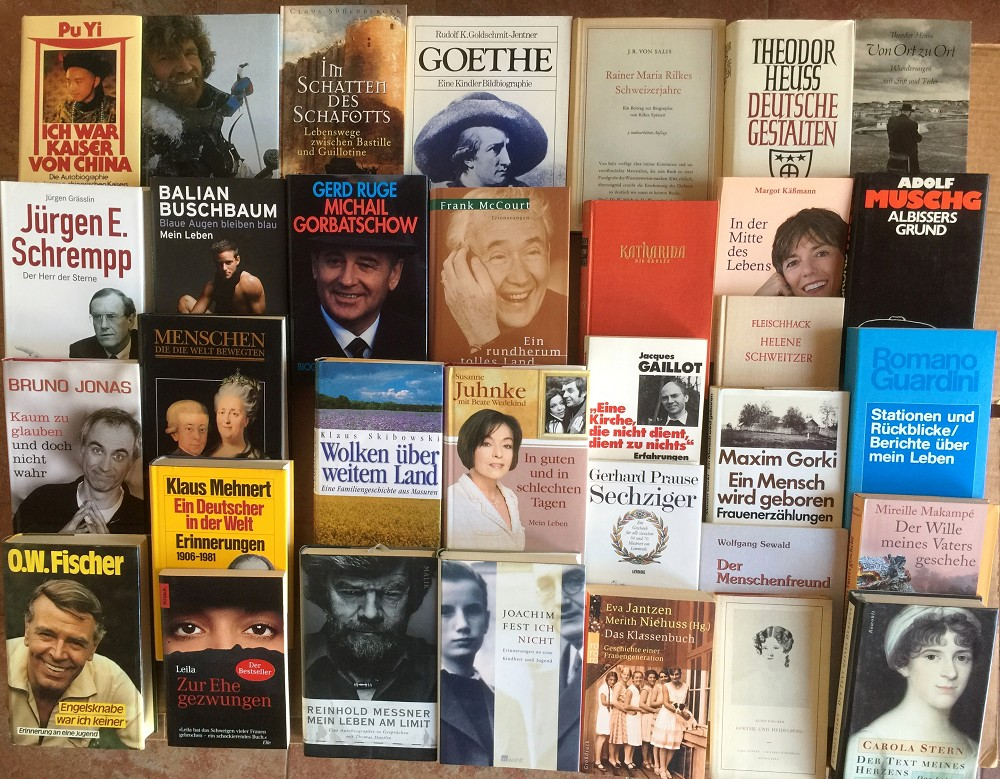 48 Bücher Biographie Lebenslauf Schicksal Erinnerungen Biografie Briefwechsel