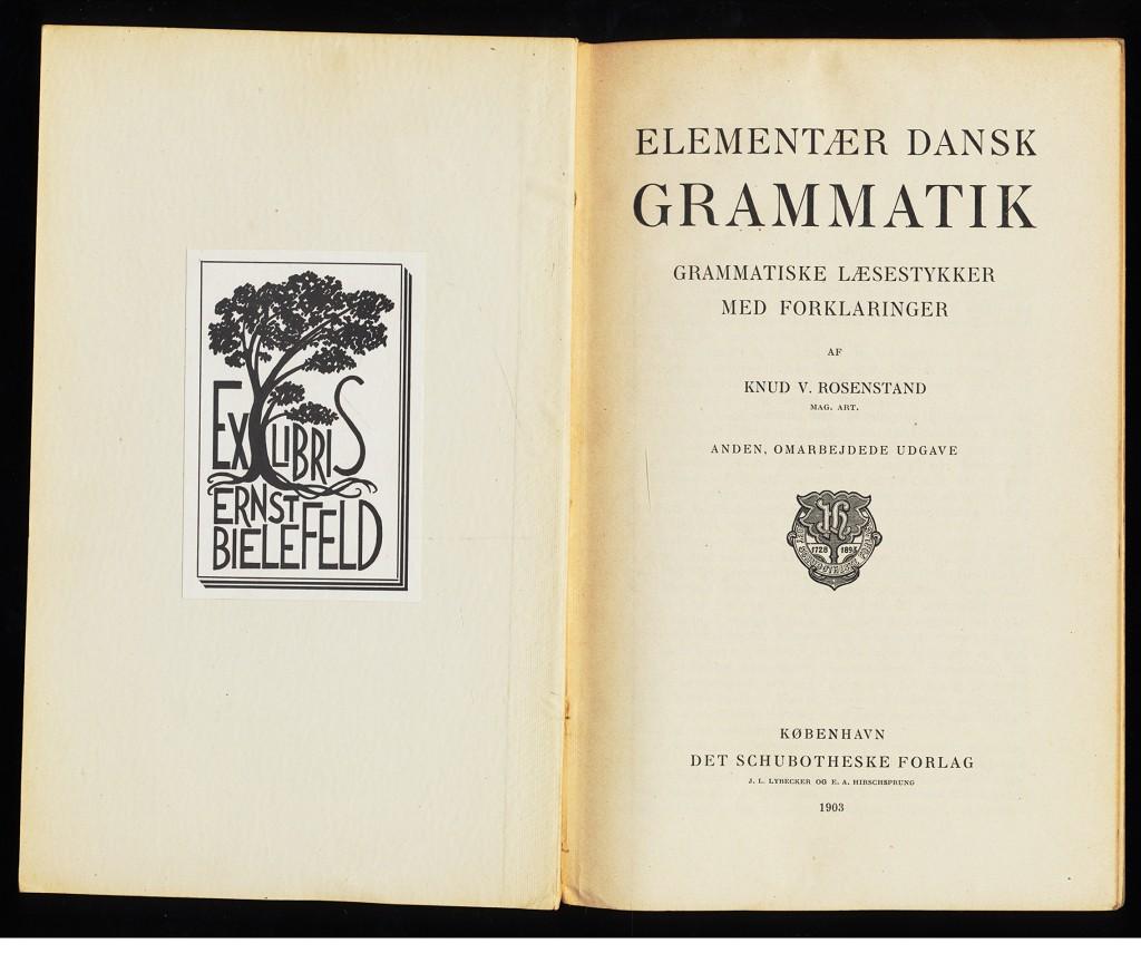 Rosenstand, Knud V.: Elementær Dansk Grammatik : Grammatiske Læsestykker med Forklaringer.